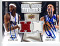 JOSH HOWARD & DIRK NOWITZKI DOUBLE AUTOGRAPHED PIECE OF THE GAME BASKETBALL CARD #120312C