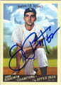 JOE PEPITONE AUTOGRAPHED BASEBALL CARD #120312F