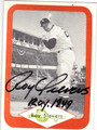 ROY SIEVERS CHICAGO WHITE SOX AUTOGRAPHED VINTAGE BASEBALL CARD #120313J