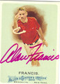 ALAN FRANCIS AUTOGRAPHED CARD #120510B