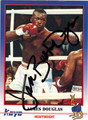 JAMES BUSTER DOUGLAS AUTOGRAPHED BOXING CARD #120511i