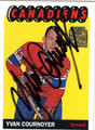 YVAN COURNOYER AUTOGRAPHED HOCKEY CARD #120511D