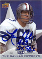 LARRY COLE AUTOGRAPHED FOOTBALL CARD #120511P