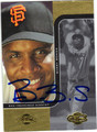 BARRY BONDS SAN FRANCISCO GIANTS AUTOGRAPHED BASEBALL CARD #120613A
