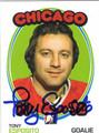 TONY ESPOSITO AUTOGRAPHED HOCKEY CARD #120711C