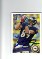 TANDON DOSS BALTIMORE RAVENS AUTOGRAPHED ROOKIE FOOTBALL CARD #120713J