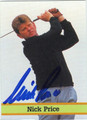 NICK PRICE AUTOGRAPHED GOLF CARD #120810G