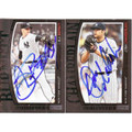 A.J. BURNETT & JOBA CHAMBERLAIN AUTOGRAPHED SET OF 2 BASEBALL CARDS #120810J