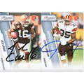 JOSH CRIBBS & JEROME HARRISON SET OF 2 AUTOGRAPHED FOOTBALL CARDS #120810K