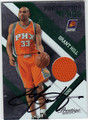 GRANT HILL AUTOGRAPHED & NUMBERED PIECE OF THE GAME BASKETBALL CARD #120712L