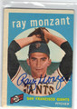 RAY MONZANT SAN FRANCISCO GIANTS AUTOGRAPHED VINTAGE BASEBALL CARD #120813B