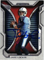 JAKE LOCKER TENNESSEE TITANS AUTOGRAPHED FOOTBALL CARD #120813E