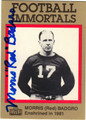 MORRIS RED BADGRO AUTOGRAPHED FOOTBALL CARD #120912H
