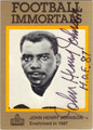 JOHN HENRY JOHNSON AUTOGRAPHED FOOTBALL CARD #121012C