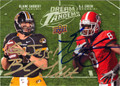 BLAINE GABBERT & AJ GREEN DOUBLE AUTOGRAPHED ROOKIE FOOTBALL CARD #121012G