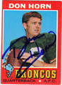 DON HORN AUTOGRAPHED VINTAGE FOOTBALL CARD #121112E