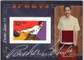 PARKER BOHN III AUTOGRAPHED & NUMBERED PIECE OF THE GAME POSTAGE STAMP CARD #121112i