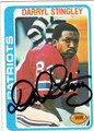 DARRYL STINGLEY AUTOGRAPHED VINTAGE FOOTBALL CARD #121111K