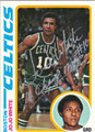 JO JO WHITE BOSTON CELTICS AUTOGRAPHED VINTAGE BASKETBALL CARD #121113N
