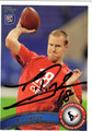 TJ YATES AUTOGRAPHED ROOKIE FOOTBALL CARD #12112C