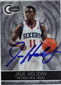 JRUE HOLIDAY AUTOGRAPHED & NUMBERED BASKETBALL CARD #12112T