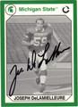 JOE DeLAMIELLEURE AUTOGRAPHED FOOTBALL CARD #12112S