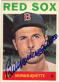 BILL MONBOUQUETTE BOSTON RED SOX AUTOGRAPHED VINTAGE BASEBALL CARD #12113E