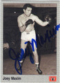 JOEY MAXIM AUTOGRAPHED BOXING CARD #121213B