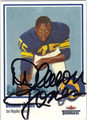 DEACON JONES AUTOGRAPHED FOOTBALL CARD #121412E