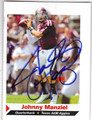 JOHNNY MANZIEL TEXAS A&M AUTOGRAPHED ROOKIE FOOTBALL CARD #121513G