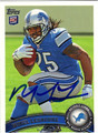 MIKEL LESHOURE AUTOGRAPHED ROOKIE FOOTBALL CARD #121612A