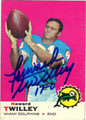 HOWARD TWILLEY AUTOGRAPHED VINTAGE FOOTBALL CARD #121612E