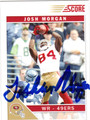 JOSH MORGAN SAN FRANCISCO 49ers AUTOGRAPHED FOOTBALL CARD #121613H