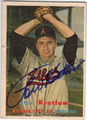 LOU KRETLOW KANSAS CITY ATHLETICS AUTOGRAPHED VINTAGE BASEBALL CARD #121613L