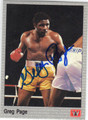 GREG PAGE AUTOGRAPHED BOXING CARD #121613N