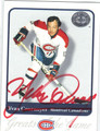 YVAN COURNOYER AUTOGRAPHED HOCKEY CARD #121712H