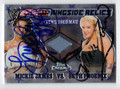 MICKIE JAMES & BETH PHOENIX DOUBLE AUTOGRAPHED PIECE OF THE MAT WRESTLING CARD #121810H