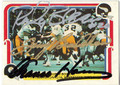ROCKY BLEIER, TERRY BRADSHAW & FRANCO HARRIS TRIPLE AUTOGRAPHED FOOTBALL CARD #121810A