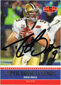 DREW BREES AUTOGRAPHED FOOTBALL CARD #121812H