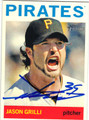 JASON GRILLI PITTSBURGH PIRATES AUTOGRAPHED BASEBALL CARD #121913H