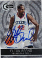 ELTON BRAND PHILADELPHIA 76ers AUTOGRAPHED & NUMBERED BASKETBALL CARD #121911O