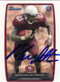 MARCUS LATTIMORE SAN FRANCISCO 49ers AUTOGRAPHED ROOKIE FOOTBALL CARD #122113O