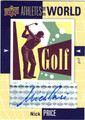 NICK PRICE AUTOGRAPHED GOLF CARD #12213F