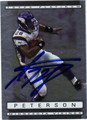 ADRIAN PETERSON AUTOGRAPHED FOOTBALL CARDS #122211G