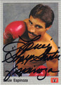 LOUIE ESPINOZA AUTOGRAPHED BOXING CARD #122213S
