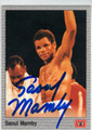 SAOUL MAMBY AUTOGRAPHED BOXING CARD #122213Q