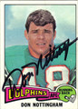 DON NOTTINGHAM AUTOGRAPHED VINTAGE FOOTBALL CARD #122312G