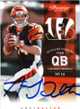 ANDY DALTON AUTOGRAPHED ROOKIE FOOTBALL CARD #122512C