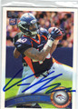 VON MILLER DENVER BRONCOS AUTOGRAPHED ROOKIE FOOTBALL CARD #122613L