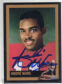 ANDRE WARE AUTOGRAPHED HEISMAN FOOTBALL CARD #122713D